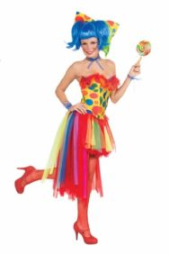 Forum-Novelties-Womens-Circus-Sweetie-Adult-Pippi-Polka-Dot-Clown-tutu-Costume-0