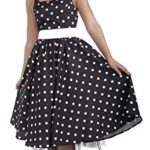 Forum-Novelties-Womens-Flirting-with-The-50s-Polka-Dot-Cutie-Black-MediumLarge-0