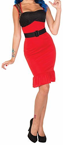 Forum-Novelties-Womens-Retro-Rock-Scarlet-Rose-Rockabilly-Pin-Up-Girl-Costume-0