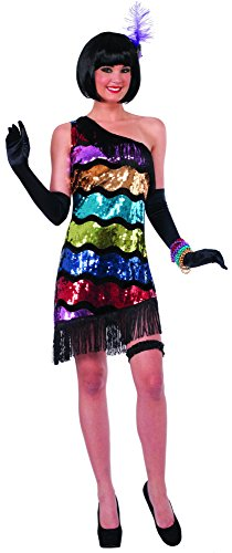 Forum Novelties Women's Swanky Sequins Flapper Costume Dress