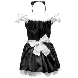 French-Maid-Womens-Halloween-Costume-Sexy-Cleaning-Service-Maiden-Apron-Skirt-0-1