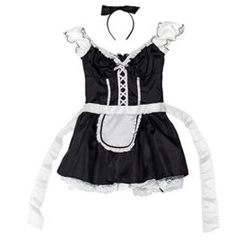 French-Maid-Womens-Halloween-Costume-Sexy-Cleaning-Service-Maiden-Apron-Skirt-0-2
