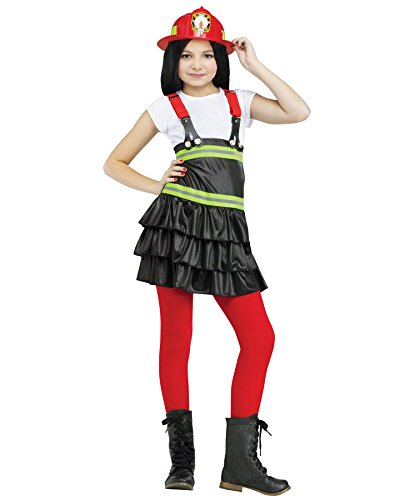Fun World Kids Firefighter Chief Dress Girls Halloween Costume