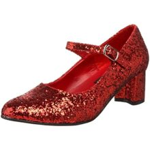Funtasma-SCHOOLGIRL-50G-womens-Red-Glitter-Pumps-Shoes-Size-7-0