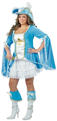 Funworld Womens Disney Sexy Madam Musketeer Theme Party Fancy Halloween Costume