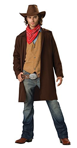 GTH Men's Western Fancy Rawhide Renegade Cowboy Theme Party Costume