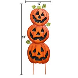 Gift-Boutique-Stacked-Metal-Halloween-Jack-O-Lanterns-Garden-Stakes-Set-of-2-Halloween-Decoration-0-0