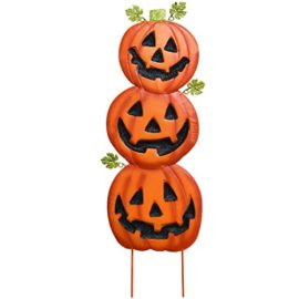 Gift-Boutique-Stacked-Metal-Halloween-Jack-O-Lanterns-Garden-Stakes-Set-of-2-Halloween-Decoration-0-2