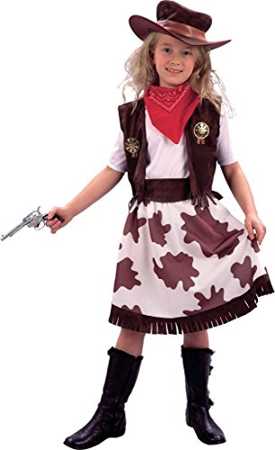 Girls Book Week Day Fancy Dress Wild West Cowgirl/Cowprint Skirt Costume Outfit