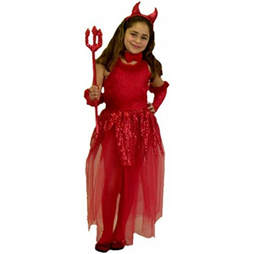 girls childs devil costume sizemedium 8 10 0