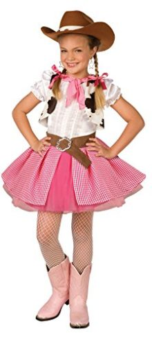 Girls-Cowgirl-Cutie-Kids-Child-Fancy-Dress-Party-Halloween-Costume-0