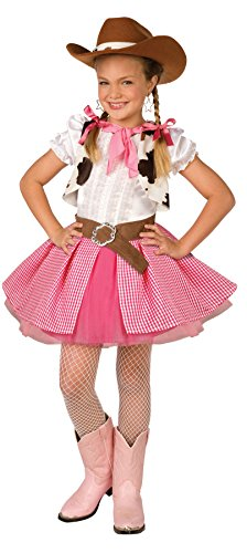 Girls Cowgirl Cutie Kids Child Fancy Dress Party Halloween Costume