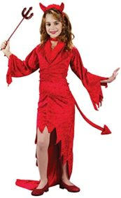 Girls-Devilish-Devil-Kids-Child-Fancy-Dress-Party-Halloween-Costume-0