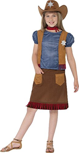 Girls Fancy Dress Up Party Book Week Day Wild West Western Belle Cowgirl Costume