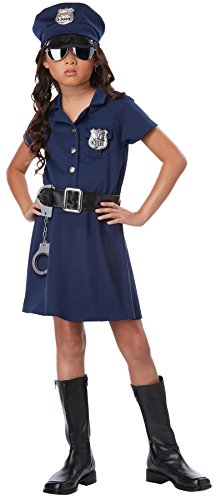 Girls-Police-Officer-Kids-Child-Fancy-Dress-Party-Halloween-Costume-0