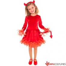 Girls-Red-Devil-Costume-Small-Age-10-12-Years-0