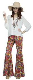 Groovy-60s-Flower-Power-Hippie-Peace-Bell-Bottom-Pants-Adult-Costume-Accessory-0