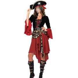 HZY-Halloween-Women-Pirate-Costume-Beauty-Cosplay-Cap-Dresses-Belt-0