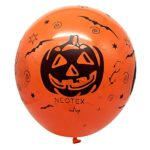 Halloween-Decorations-Balloon-100-pcs-12-Inches-Party-Balloons-Skeleton-Specter-Pumpkin-Balloons-Orange-Latex-with-a-Hand-Held-Air-Inflator-for-Halloween-Decorations-0-0