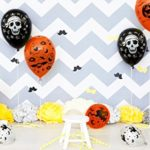 Halloween-Decorations-Balloon-100-pcs-12-Inches-Party-Balloons-Skeleton-Specter-Pumpkin-Balloons-Orange-Latex-with-a-Hand-Held-Air-Inflator-for-Halloween-Decorations-0-5