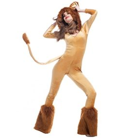 Halloween-Deluxe-Lion-Animal-Cosplay-Costume-Stage-Sexy-Jumpsuit-0-0