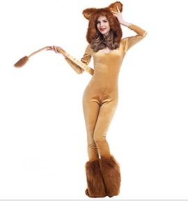 Halloween-Deluxe-Lion-Animal-Cosplay-Costume-Stage-Sexy-Jumpsuit-0-1
