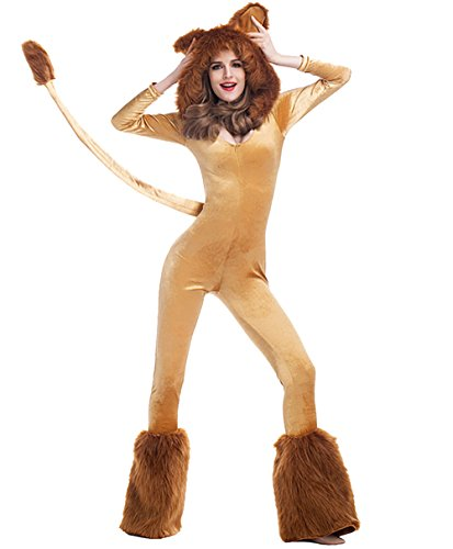 Halloween Deluxe Lion Animal Cosplay Costume Stage Sexy Jumpsuit