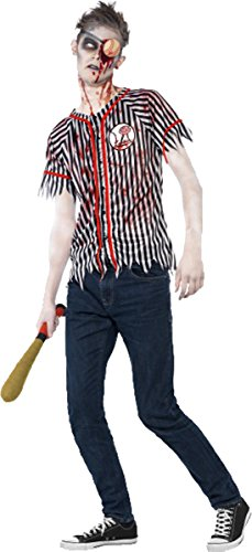 Halloween Fancy Party Dress Outfit Creepy Zombie Baseball Player Spooky Costume