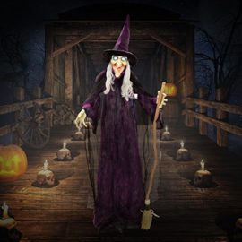 Halloween-Haunters-6-foot-Animated-Standing-Scary-Evil-Wicked-Witch-Broomstick-Prop-Decoration-Turning-Body-Head-Speaks-Cackles-LED-Eyes-0-0