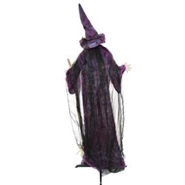 Halloween-Haunters-6-foot-Animated-Standing-Scary-Evil-Wicked-Witch-Broomstick-Prop-Decoration-Turning-Body-Head-Speaks-Cackles-LED-Eyes-0-2