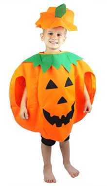 Halloween-Orange-Pumpkin-Unisex-Costume-Set-for-Party-Children-Clothing-2-6year-0