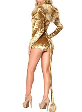 Halloween-Sexy-Animal-Costumes-with-Tail-and-Ear-Lion-Hooded-Velvet-Romper-for-Women-Cosplay-Gold-0-1