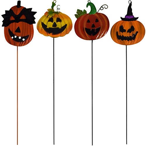 Halloween-Yard-Stake-Decorations-Pumpkin-Jack-o-Lantern-Metal-Garden-Yard-Signs-Set-of-4-Outdoor-Party-Decor-By-Gift-Boutique-0-0