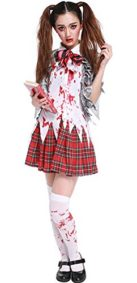 Halloween-Zombie-Costume-Schoolgirl-Costume-Bloody-Student-Uniform-Outfit-Cosplay-0
