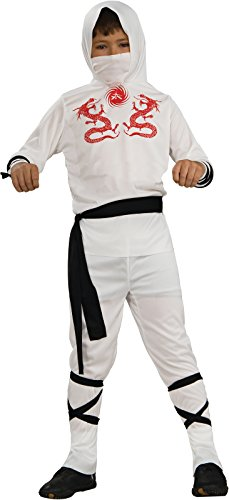 Haunted House Child's White Ninja Costume