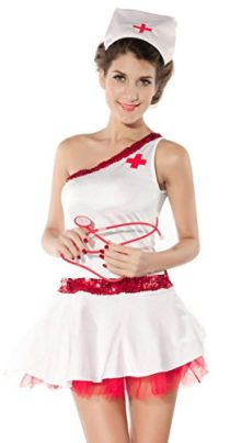 IF-FEEL-Womens-Sexy-Nurse-Uniforme-Cosplay-Costume-Set-For-Halloween-0-0