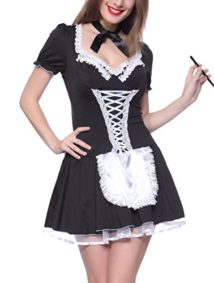 IYISS-Womens-Sexy-Black-and-White-French-Maid-Costume-Dress-0