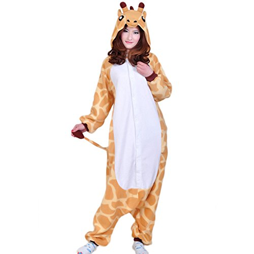 Ikerenwedding Unisex Giraffe Pajamas Adult Onesie Halloween Cosplay Costume