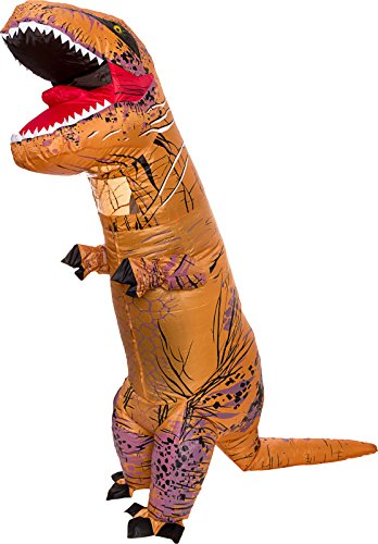 inflatable dinosaur costume adult giant jurassic t rex blow up halloween costume by splurge