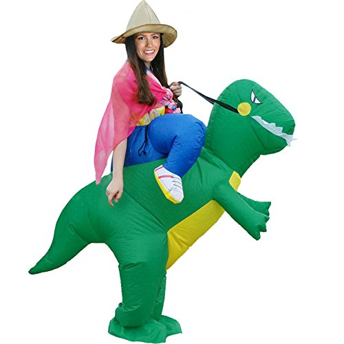 Inflatable Rider Costume Riding Me Fancy Dress Funny Dinosaur Unicorn Funny Suit Mount Kids Adult