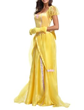 JANES-CUTLE-Womens-Fairytale-Princess-Dress-Halloween-Party-Cosplay-Costume-Yellow-Maxi-Dress-0-1