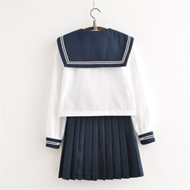 Japanese-School-Uniform-Adult-Women-Halloween-Sailor-Cosplay-Costume-Outfit-Long-Sleeve-0-0