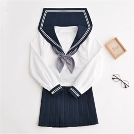 Japanese-School-Uniform-Adult-Women-Halloween-Sailor-Cosplay-Costume-Outfit-Long-Sleeve-0-1