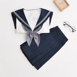 Japanese-School-Uniform-Adult-Women-Halloween-Sailor-Cosplay-Costume-Outfit-Long-Sleeve-0-2