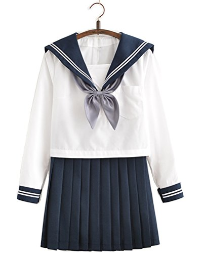 Japanese School Uniform Adult Women, Halloween Sailor Cosplay Costume Outfit Long Sleeve