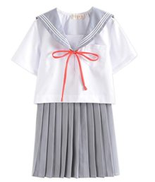Japanese-School-Uniform-Cosplay-Women-Girls-Halloween-Anime-Sailor-Costume-JK-White-Grey-0