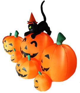 Joiedomi-Halloween-Inflatable-Blow-Up-7-Pumpkins-with-Witchs-Cat-8-Ft-Wide-0-2