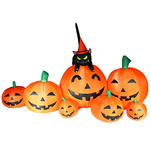 Joiedomi-Halloween-Inflatable-Blow-Up-7-Pumpkins-with-Witchs-Cat-8-Ft-Wide-0