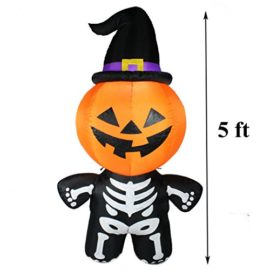 Joiedomi-Halloween-Inflatable-Blow-Up-Pumpkin-Skeleton-with-a-Witch-Hat-for-Halloween-Outdoor-Decoration-5-ft-Tall-0-0