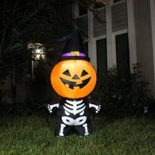 Joiedomi-Halloween-Inflatable-Blow-Up-Pumpkin-Skeleton-with-a-Witch-Hat-for-Halloween-Outdoor-Decoration-5-ft-Tall-0